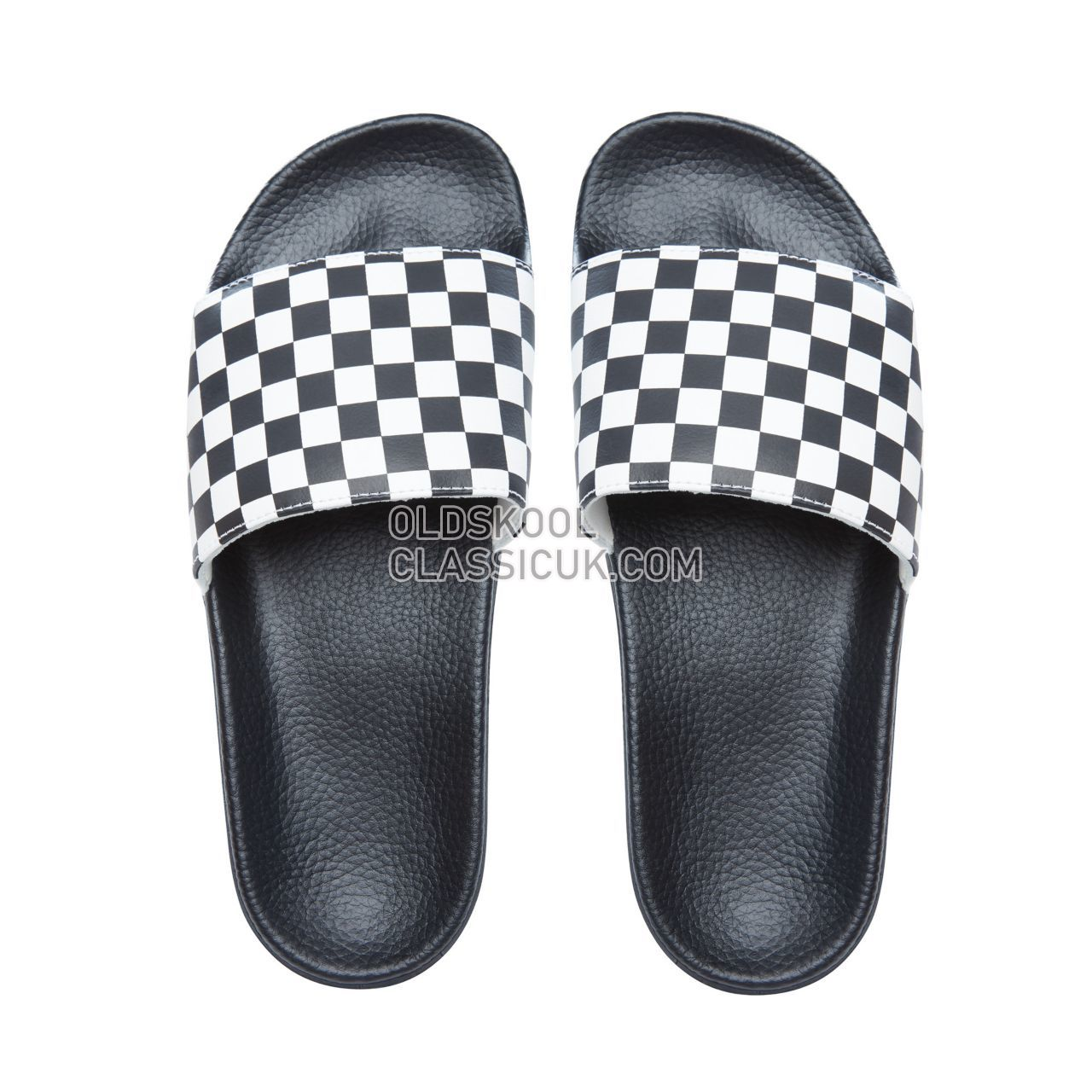 Vans Checkerboard Slide-On Sandals Mens White V4KIIP9 Shoes
