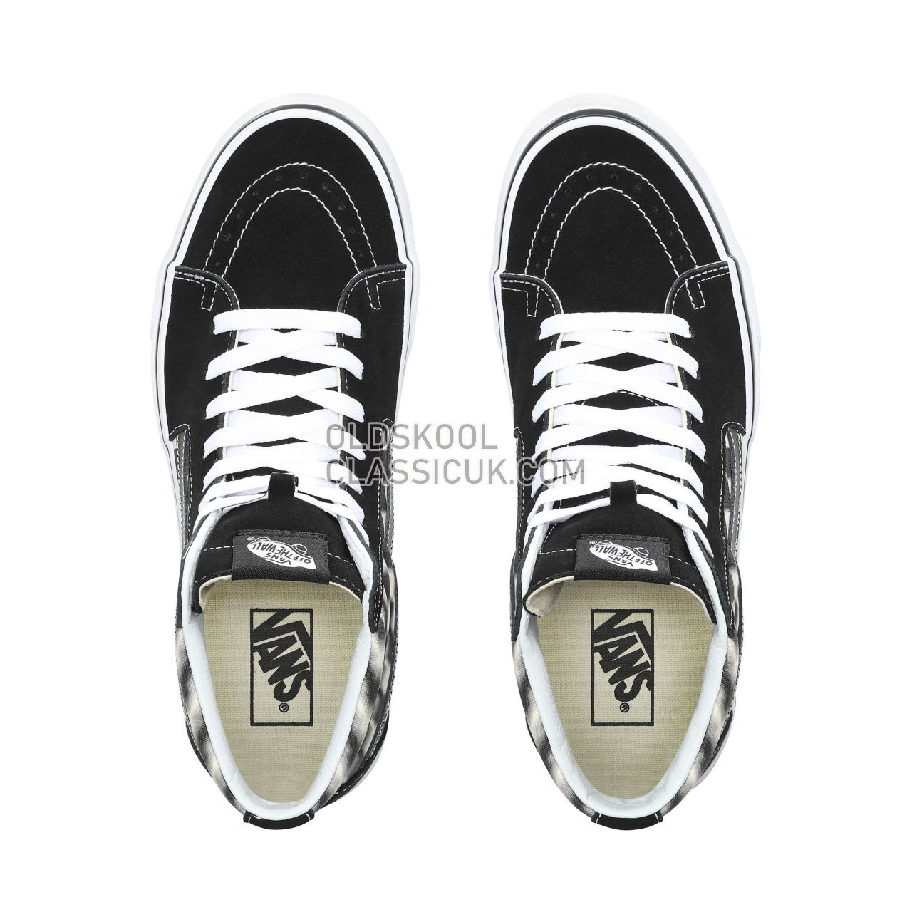 Vans Blur Check Sk8-Hi Sneakers Mens (Blur Check) Black/Classic White VN0A38GEVJM Shoes