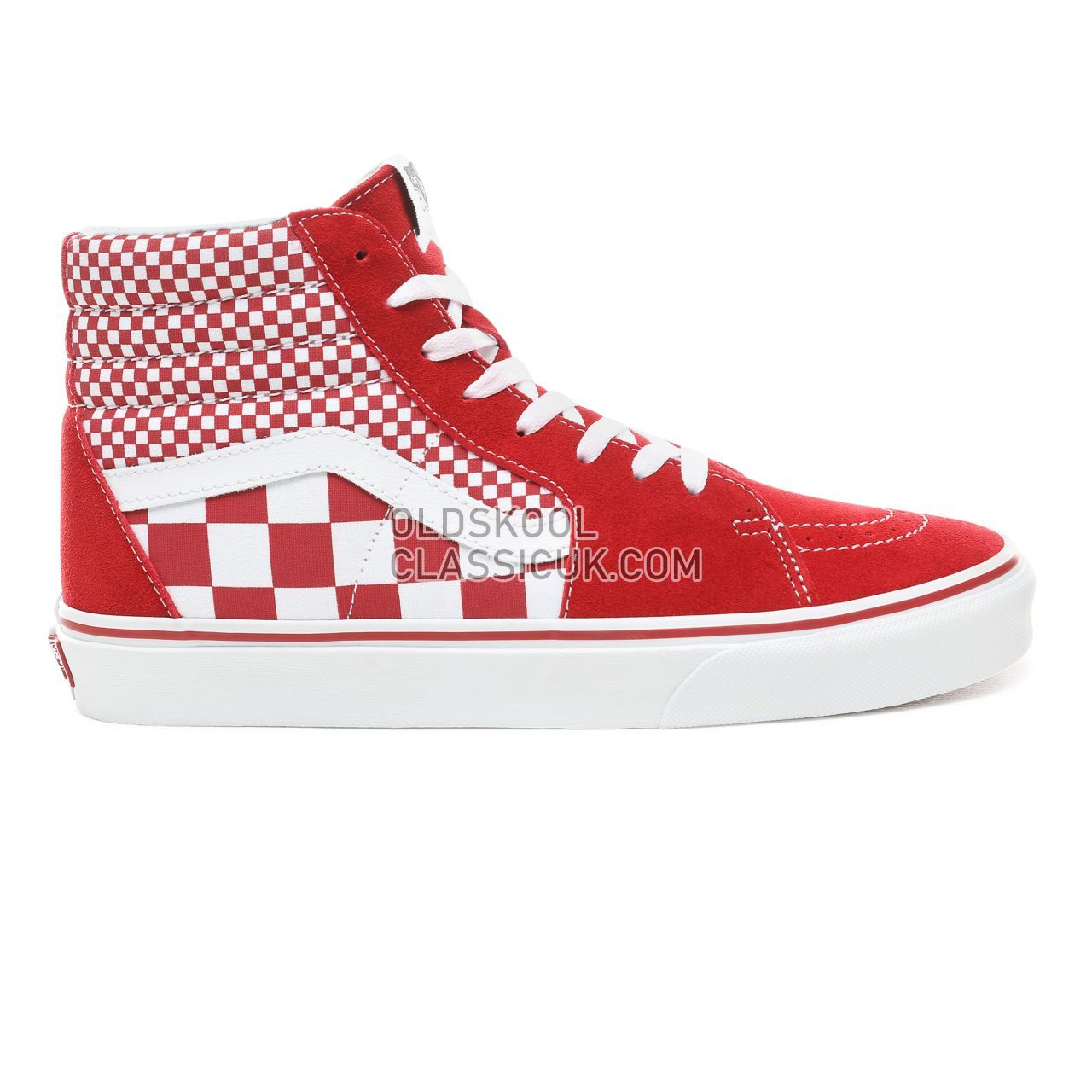 81c9a56615b Vans Mix Checker Sk8-Hi Sneakers Mens (Mix Checker) Chili Pepper True ...