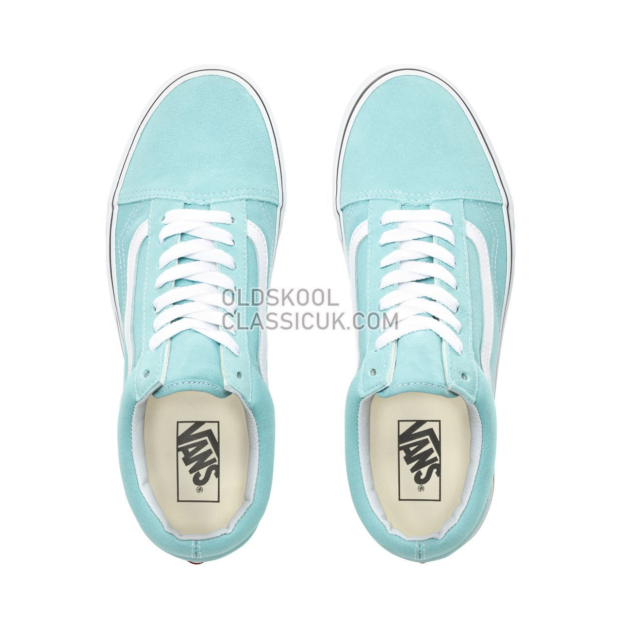 Vans Old Skool Sneakers Mens Womens Unisex Aqua Haze/True White VN0A38G1VKQ Shoes