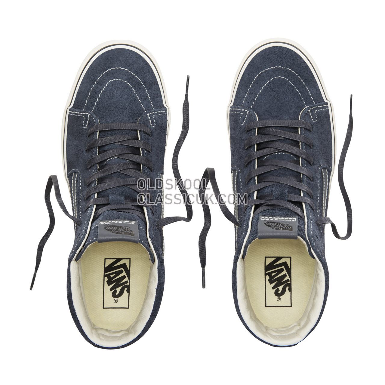 Vans Hairy Suede Sk8-Hi Sneakers Mens (Hairy Suede) Sky Captain/Snow White VN0A38GEULQ Shoes