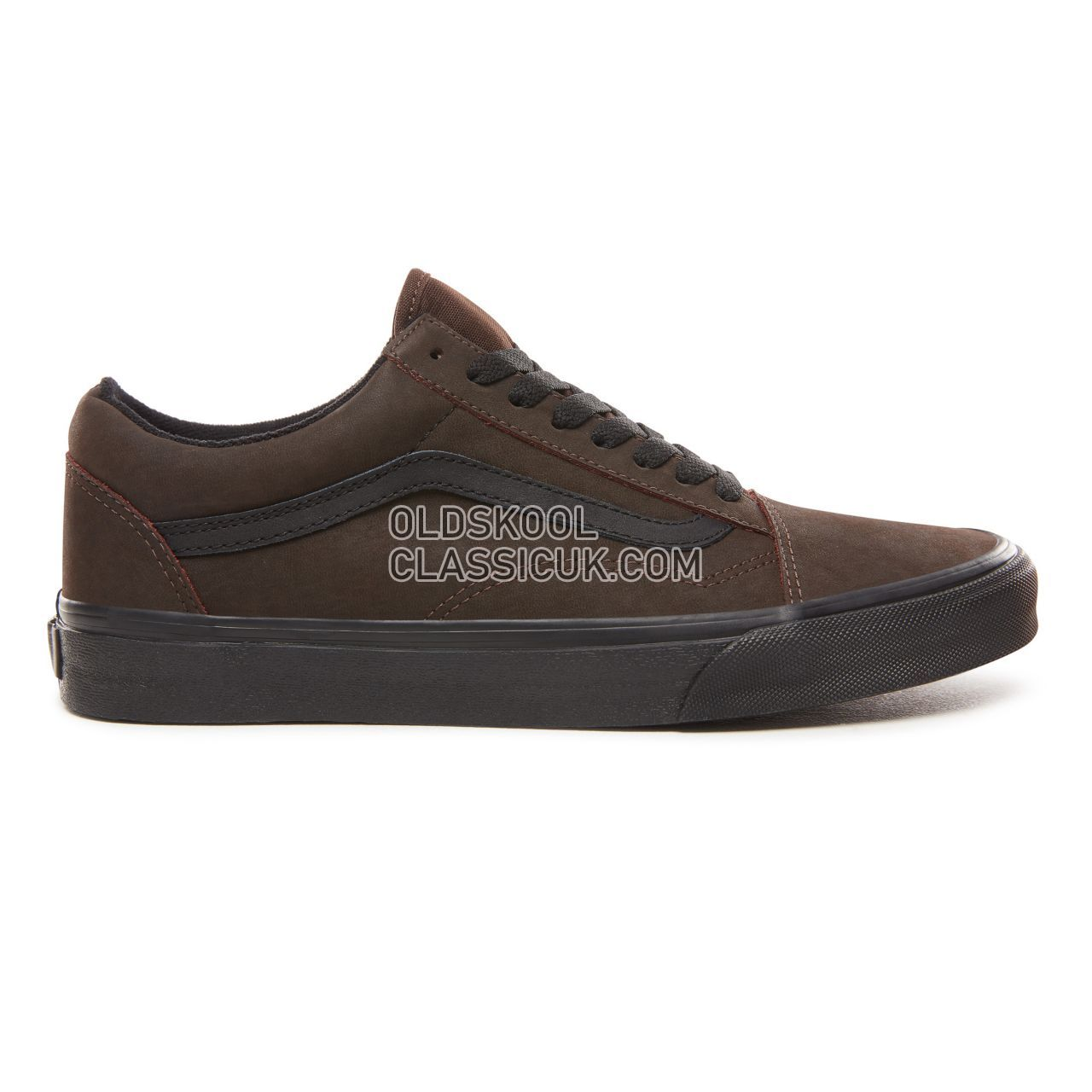 Vans Vansbuck Old Skool Sneakers Mens Womens Unisex (Vansbuck) Demitasse/Black VN0A38G1UPF Shoes