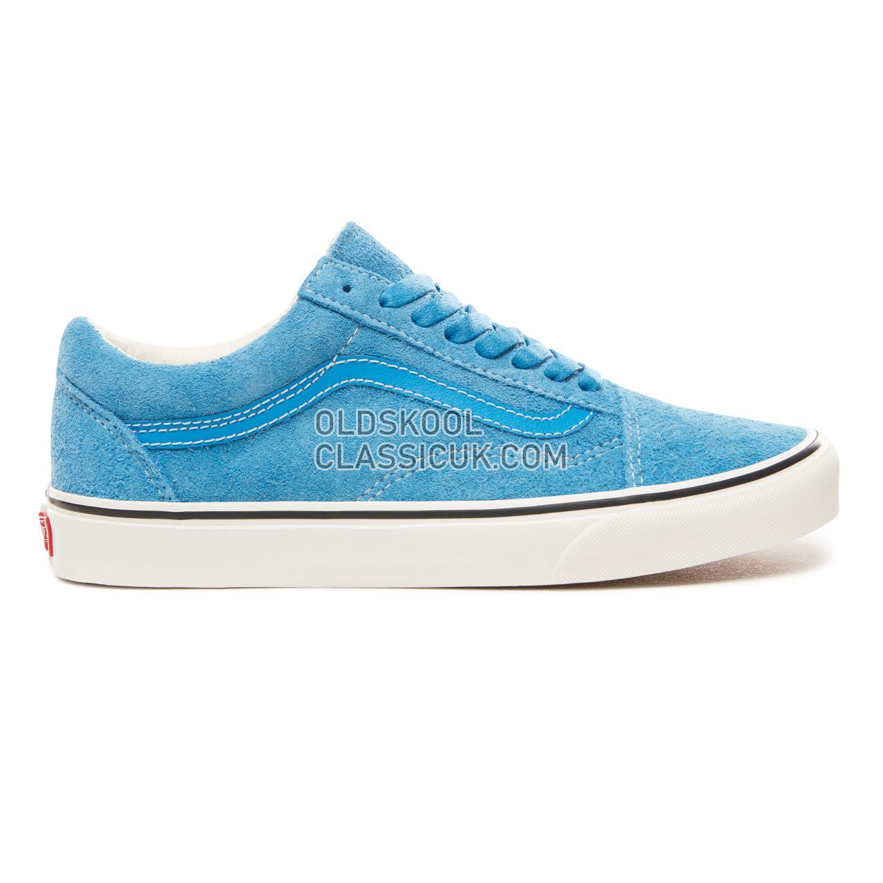 Vans Hairy Suede Old Skool Sneakers Mens Womens Unisex (Hairy Suede) Indigo Bunting/Snow White VN0A38G1UNH Shoes