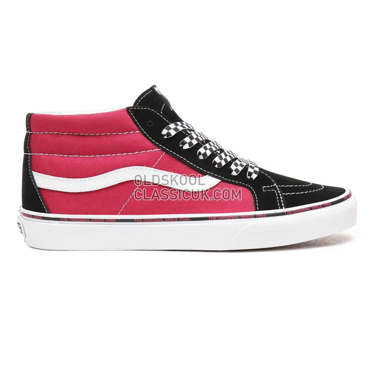 0b891165f8 Vans Sk8-Mid Reissue Sneakers Mens Jazzy Black True White VN0A391FS1S Shoes  ...