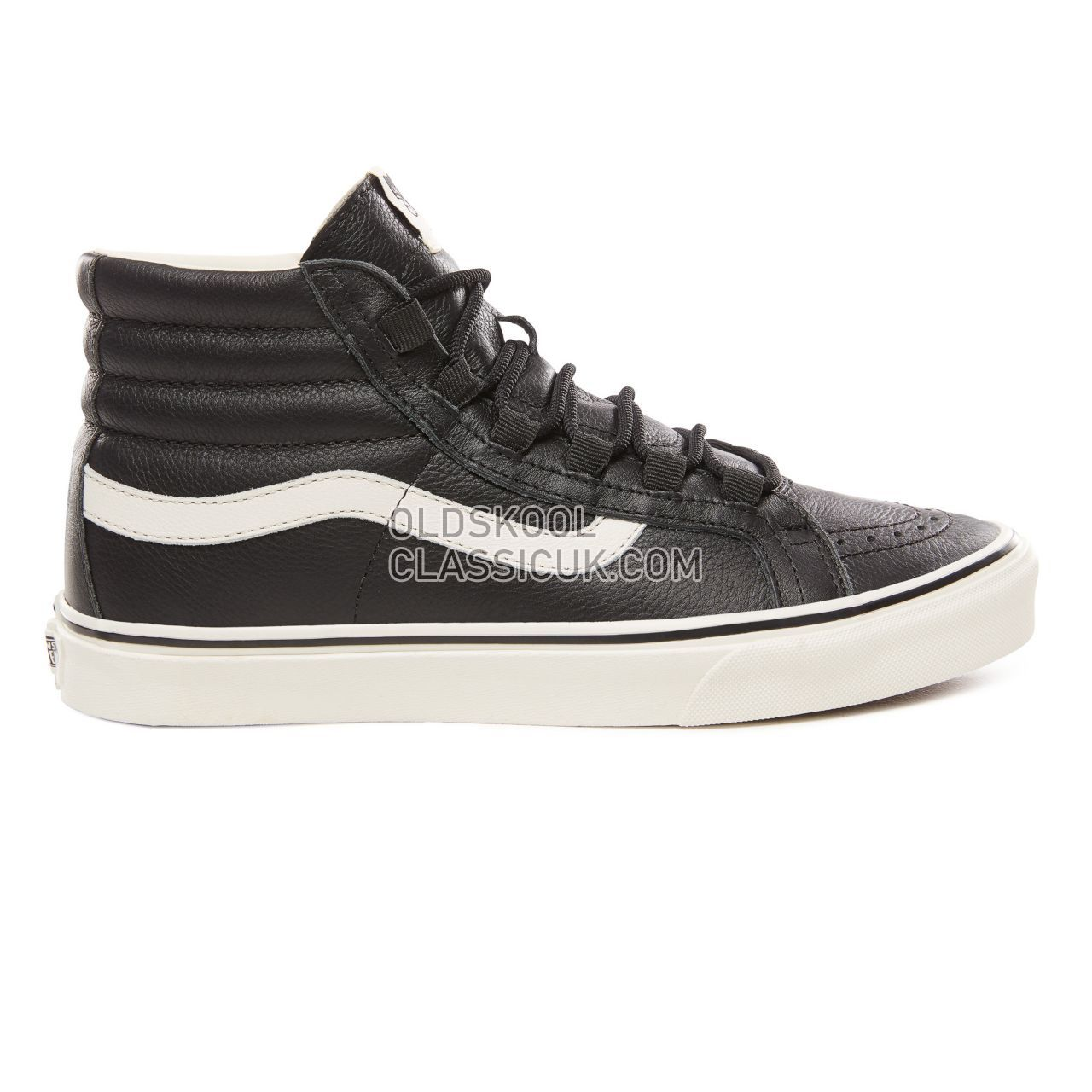 dbaf4e8d6b940 Vans Leather Sk8-Hi Reissue Ghillie Sneakers Mens (Leather)  Black/Marshmallow VN0A3ZCH68X Shoes - £50