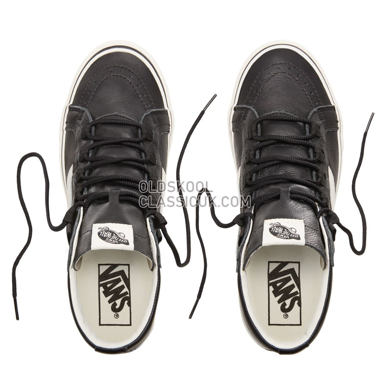 Vans Leather Sk8-Hi Reissue Ghillie Sneakers Mens (Leather) Black/Marshmallow VN0A3ZCH68X Shoes