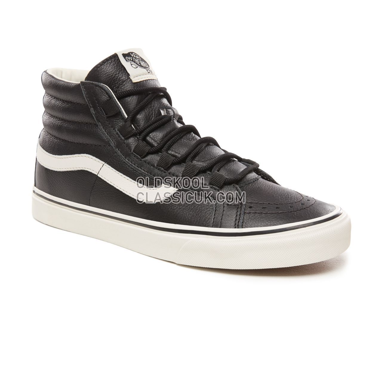 5b6d58f819 Vans Leather Sk8-Hi Reissue Ghillie Sneakers Mens (Leather)  Black/Marshmallow VN0A3ZCH68X Shoes - £50