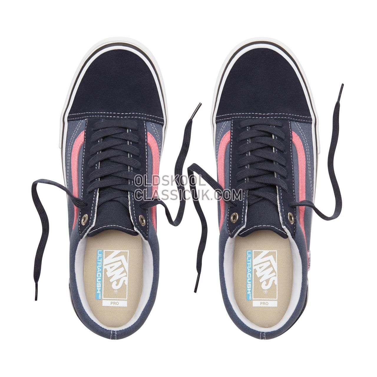 Vans Old Skool Pro Sneakers Mens Womens Unisex Sky Captain/Pink VN000ZD4UHR Shoes