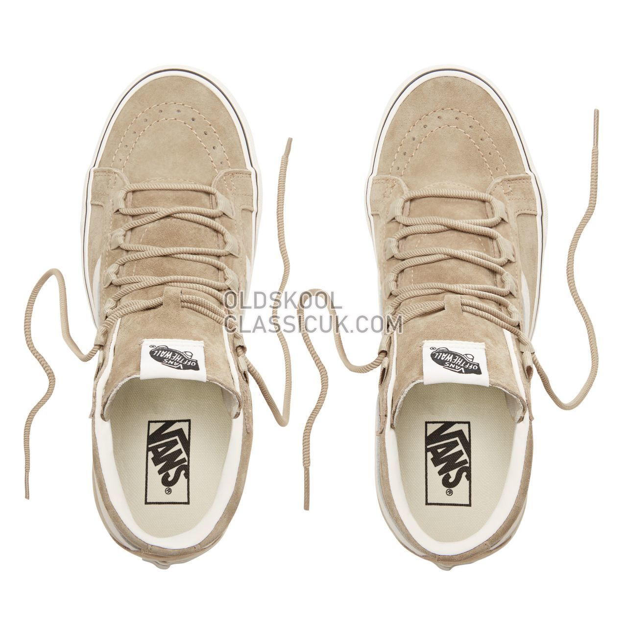 Vans Suede Sk8-Hi Reissue Ghillie Sneakers Mens (Pig Suede) Slate Green/Marshmallow VN0A3ZCHUQS Shoes