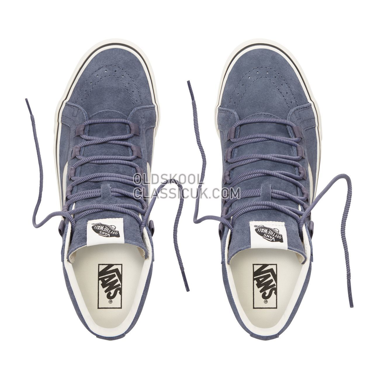 Vans Suede Sk8-Hi Reissue Ghillie Sneakers Mens (Pig Suede) Grisaille/Marshmallow VN0A3ZCHUQR Shoes