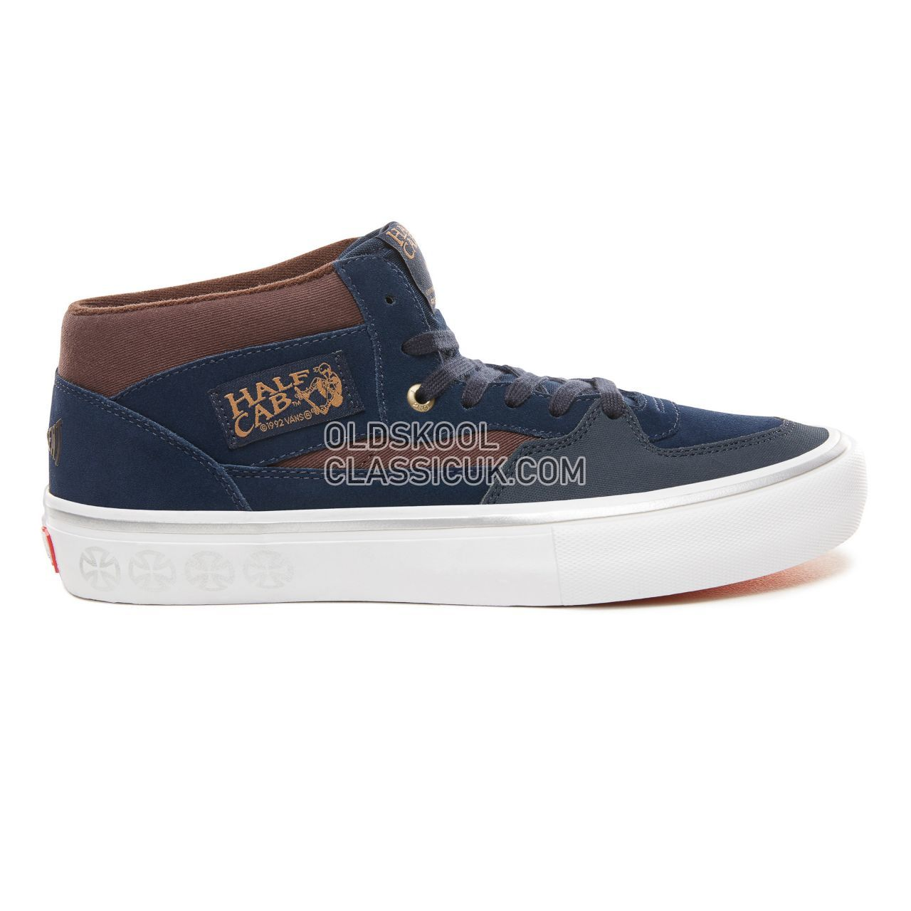 Vans X Independent Half Cab Pro Sneakers Mens (Independent) Dress Blues/Demitasse VN0A38CPUHL Shoes