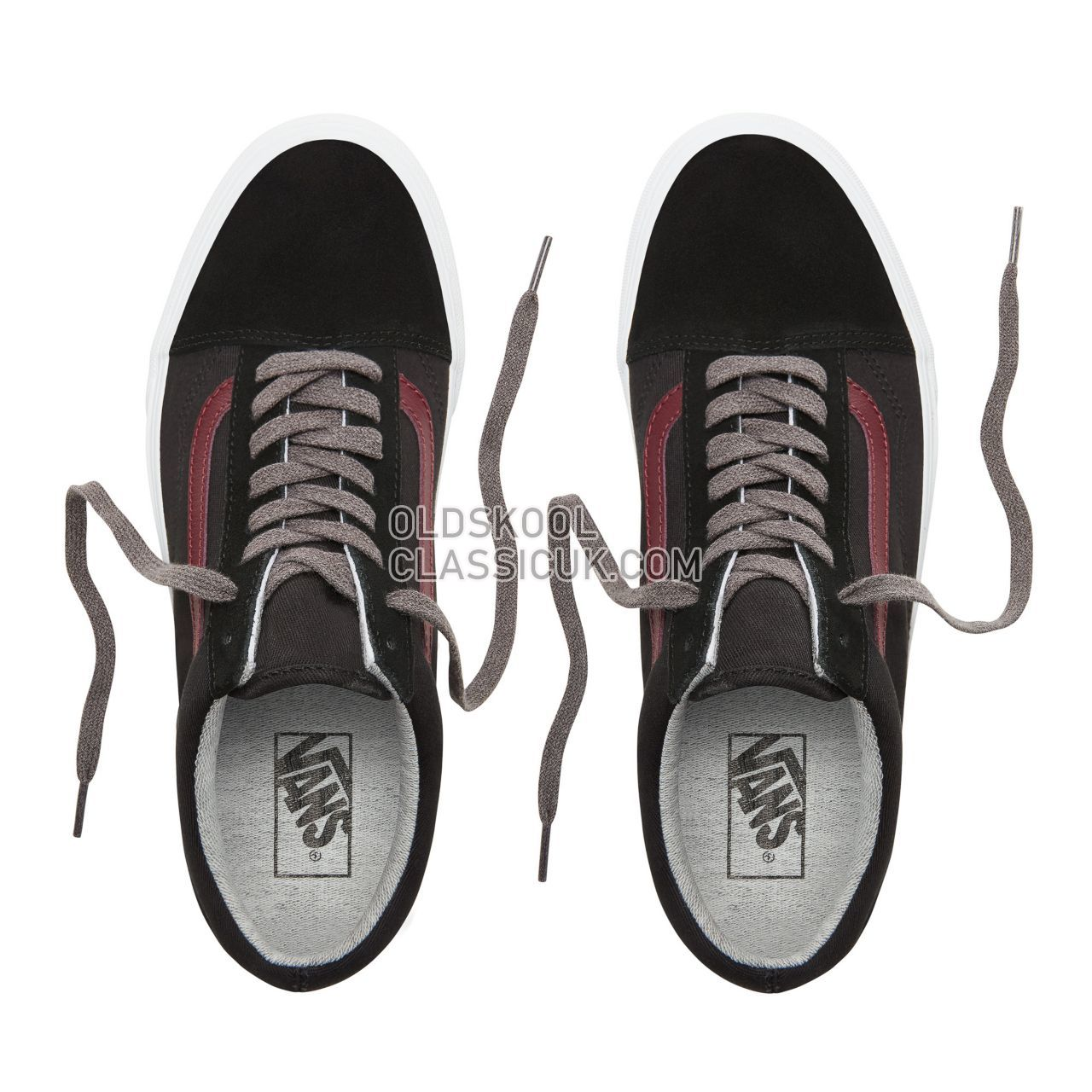Vans Jersey Lace Old Skool Sneakers Mens Womens Unisex (Jersey Lace) Black/Port Royale VN0A38G1UNI Shoes