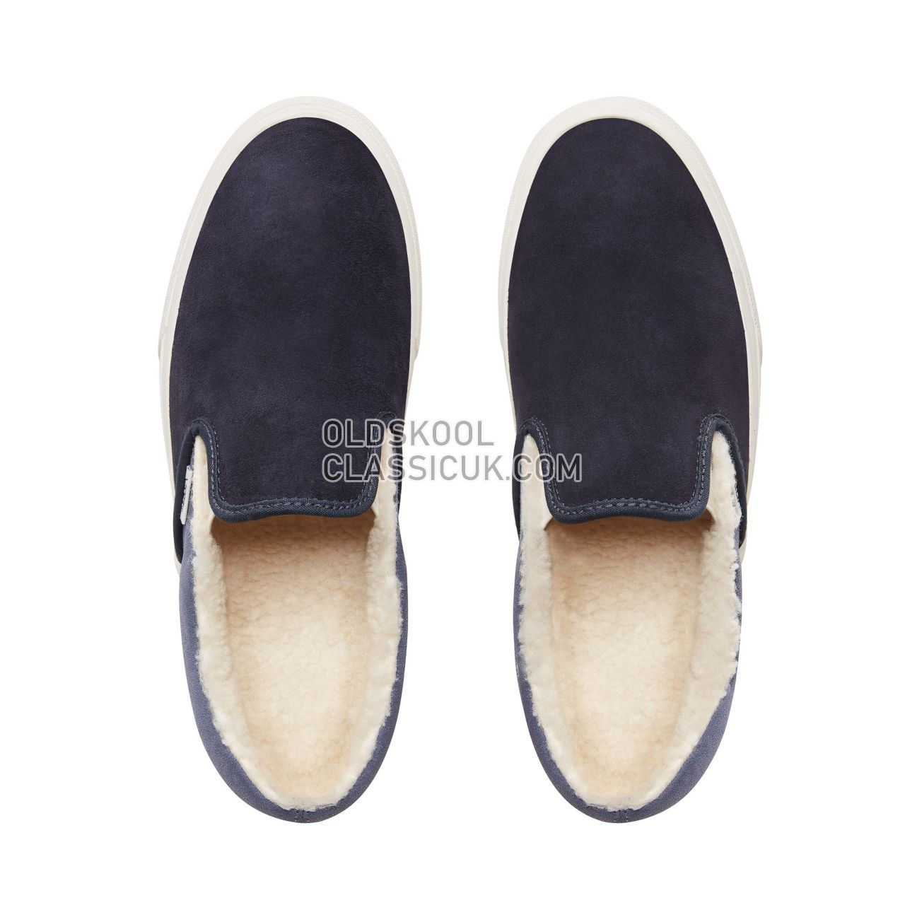 Vans Suede and Sherpa Classic Slip-on shoes Mens (Suede/Sherpa) Sky Captain/Grisaille VN0A38F7UM1 Shoes