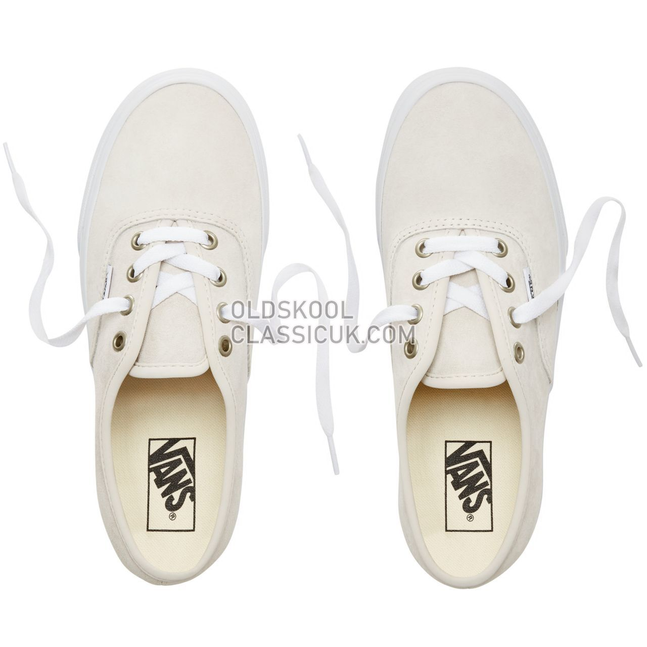 Vans Suede Authentic Sneakers Mens (Pig Suede) Moonbeam/True White VA38EMU5L Shoes