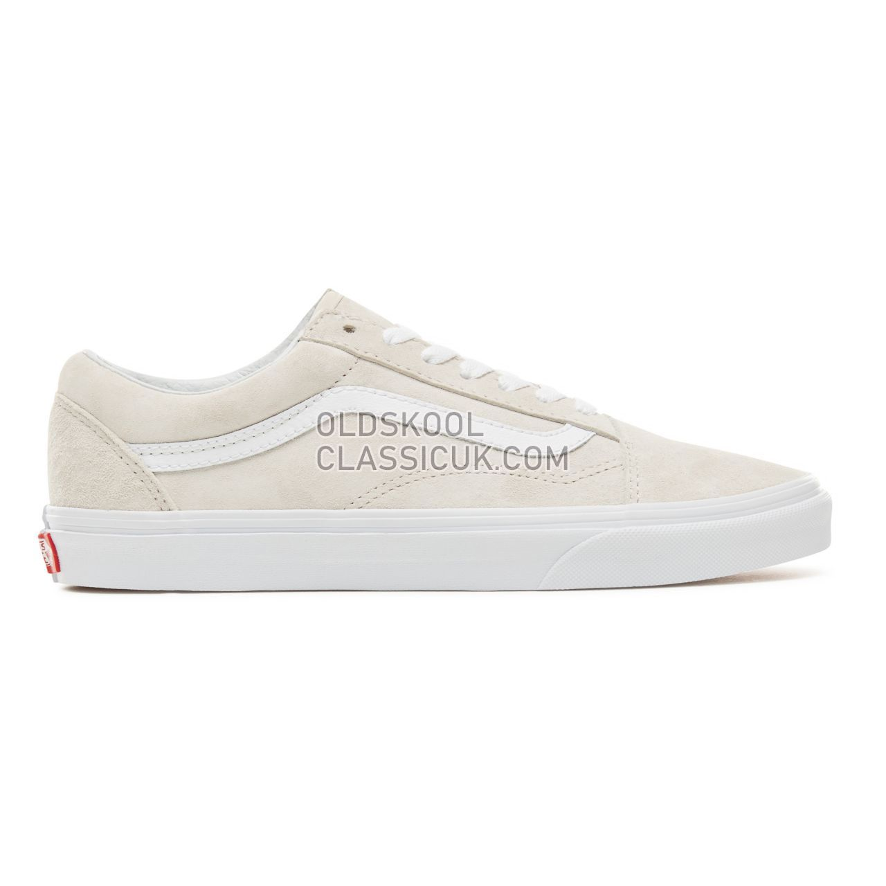 Vans Suede Old Skool Sneakers Mens Womens Unisex (Pig Suede) Moonbeam/True White VA38G1U5L Shoes