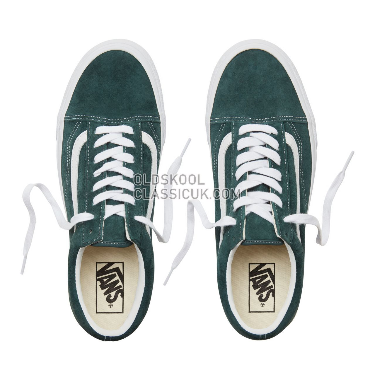 Vans Suede Old Skool Sneakers Mens Womens Unisex (Pig Suede) Darkest Spruce/True White VA38G1U5J Shoes