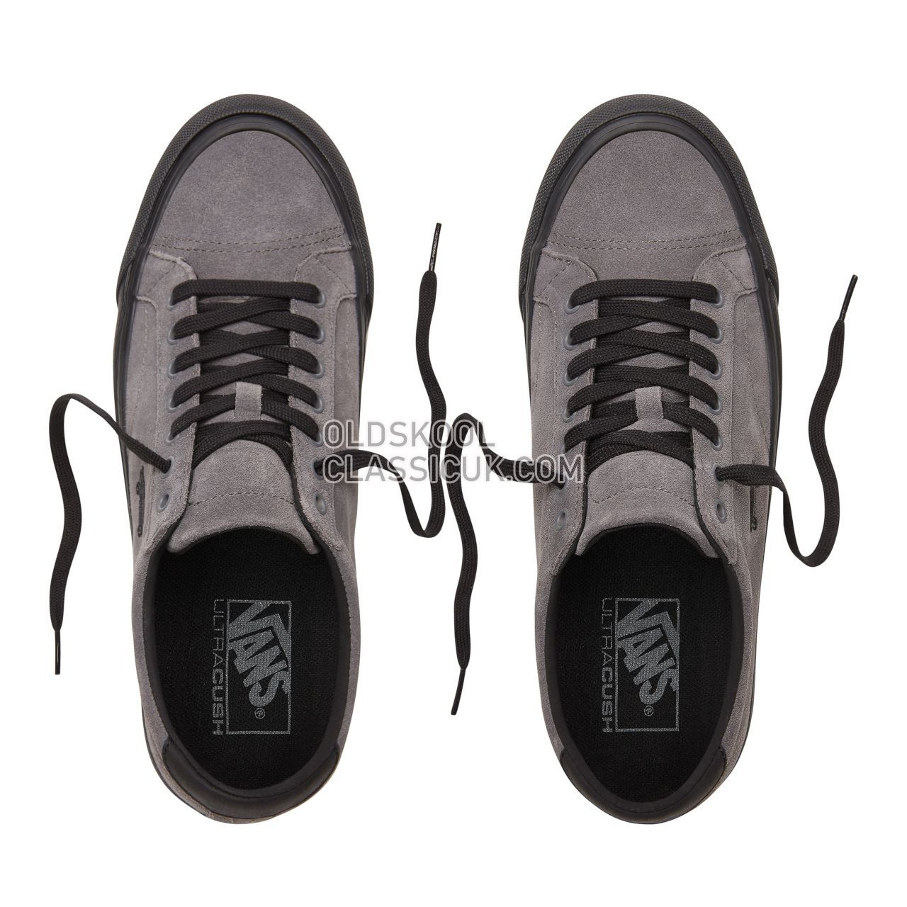 Vans Suede Court Icon Sneakers Mens (Suede) Pewter/Black VN0A3JF21UV Shoes