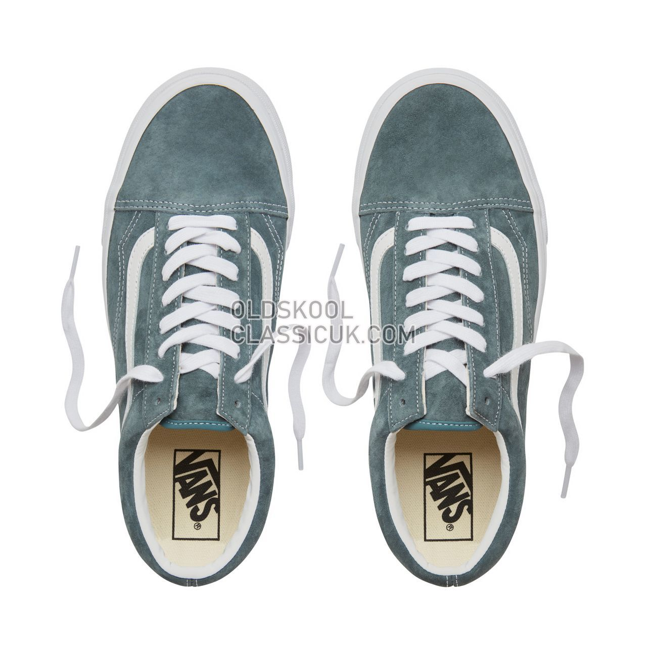 Vans Suede Old Skool Sneakers Mens Womens Unisex (Pig Suede) Stormy Weather/True White VA38G1U5N Shoes