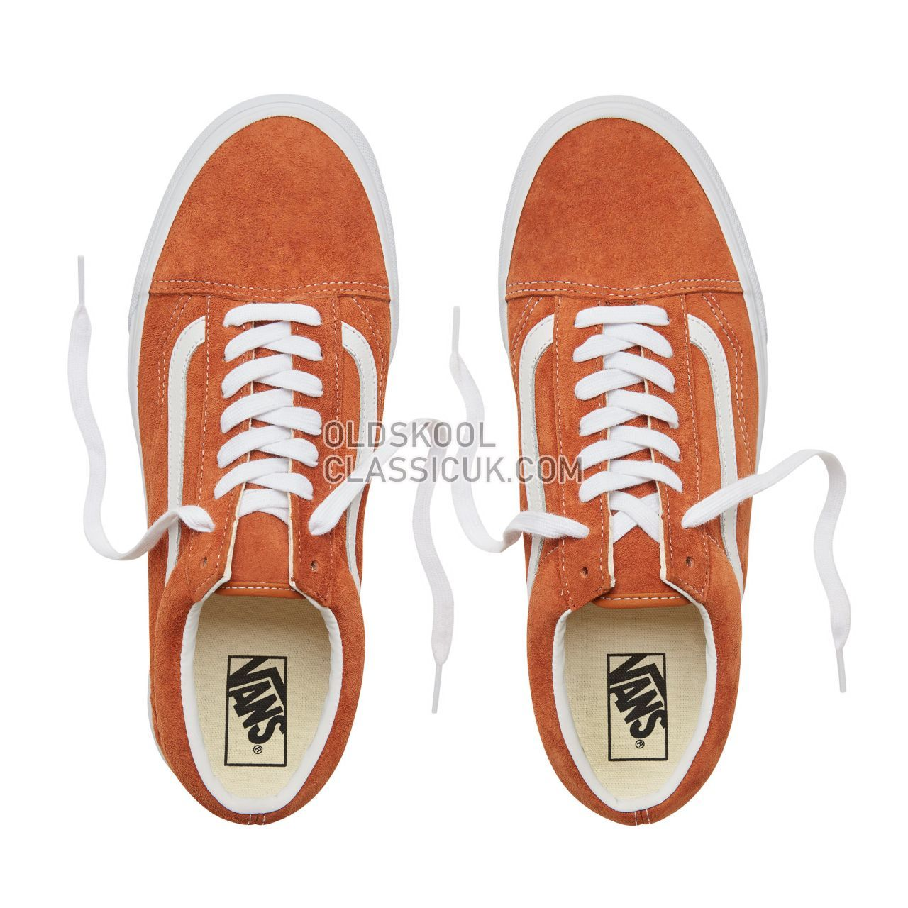 Vans Suede Old Skool Sneakers Mens Womens Unisex (Pig Suede) Leather Brown/True White VA38G1U5K Shoes