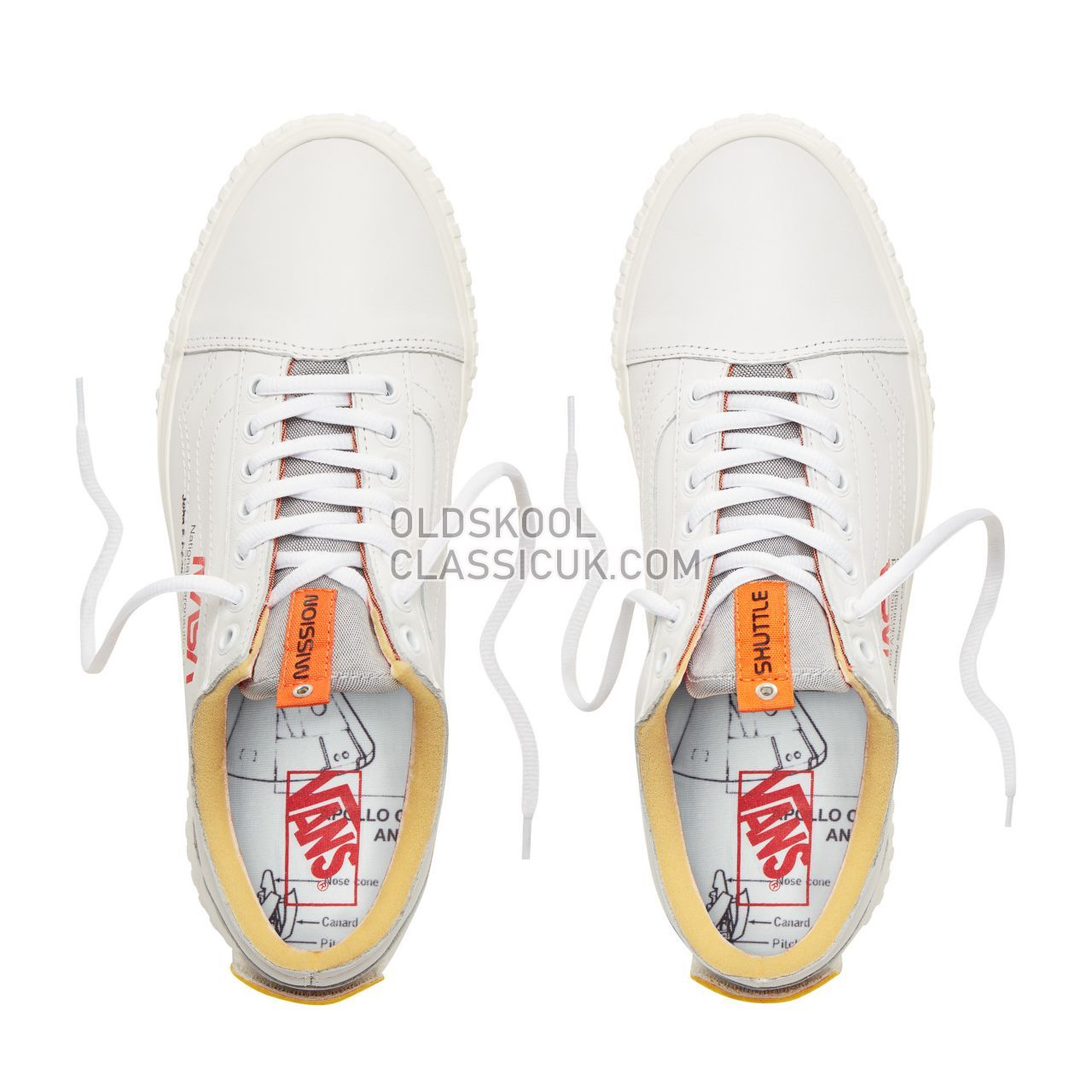 Vans x Space Voyager Old Skool Sneakers Mens Womens Unisex (Space Voyager) True White VN0A38G1UP9 Shoes