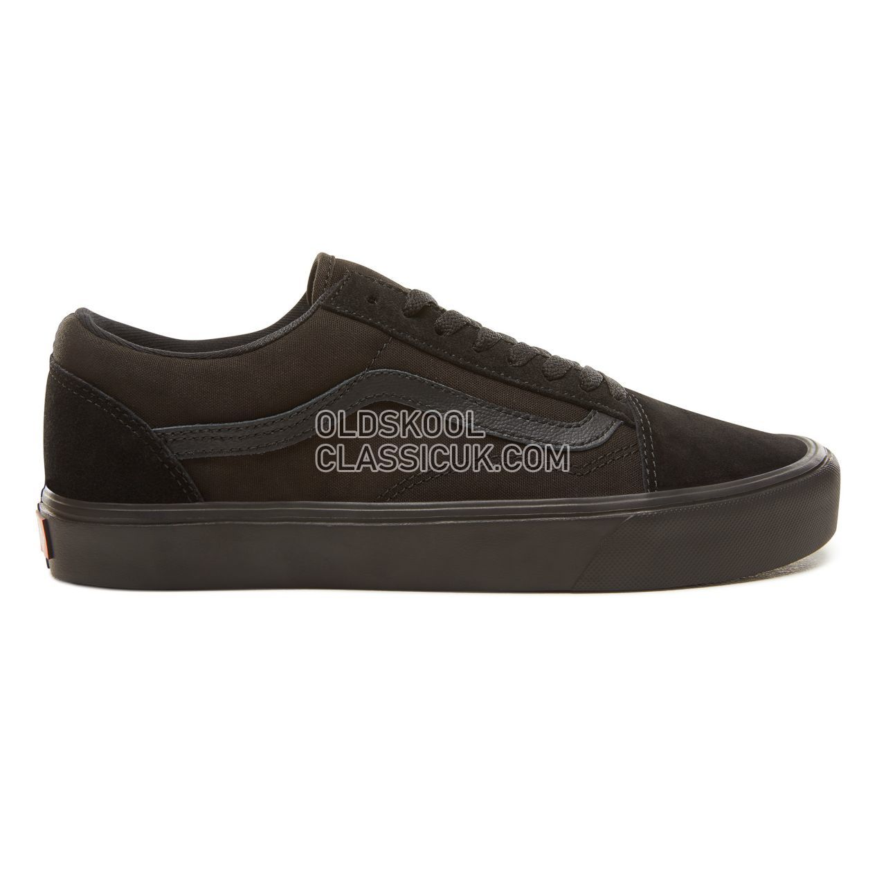 Vans Suede Old Skool Lite Sneakers Mens Womens Unisex (Suede/Canvas) Black/Black VA2Z5WGL4 Shoes