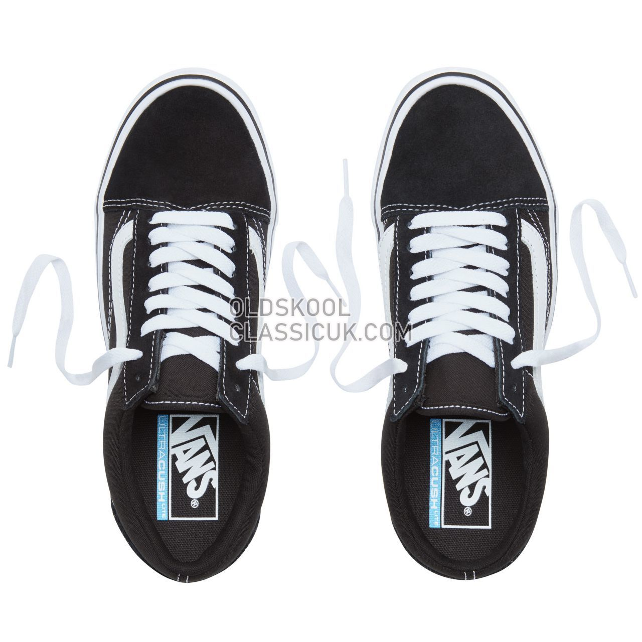 Vans Suede Old Skool Lite Sneakers Mens Womens Unisex Black/White VA2Z5WIJU Shoes