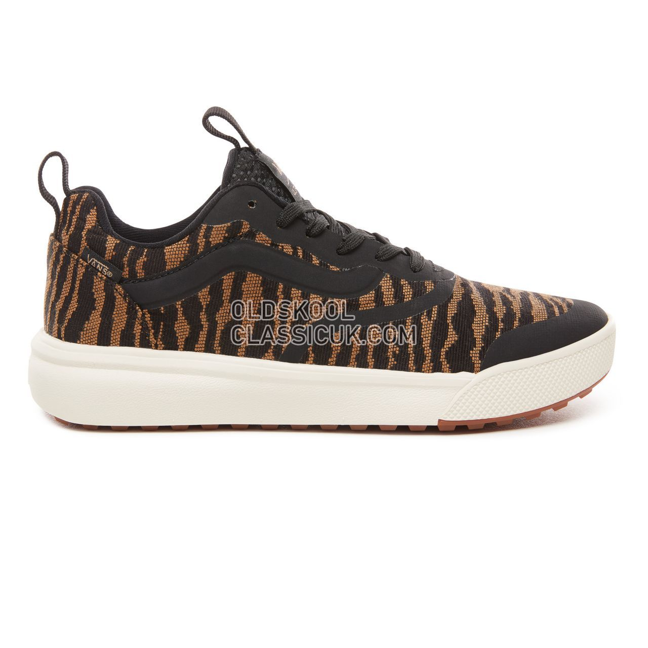 Vans Woven Tiger Ultrarange Rapidweld Sneakers Mens (Woven Tiger) Black VN0A3MVUUR3 Shoes