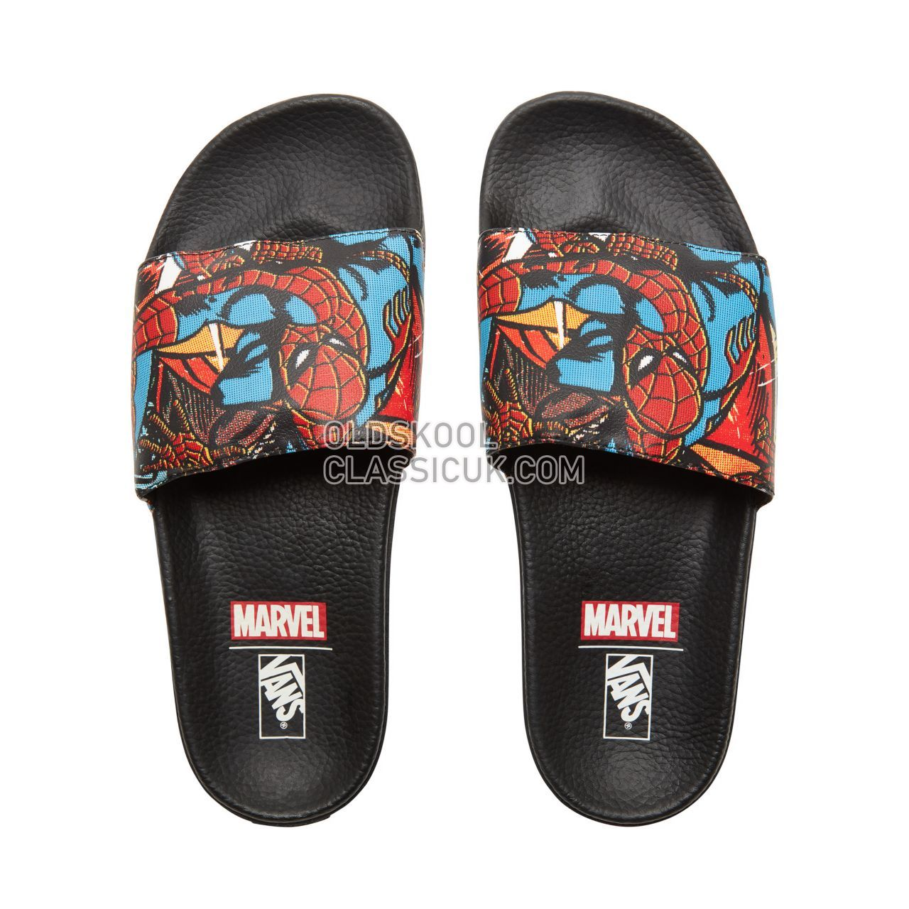 Vans X Marvel Slide-On Sneakers Mens (Marvel) Spider-Man/Black V004KI9H7 Shoes