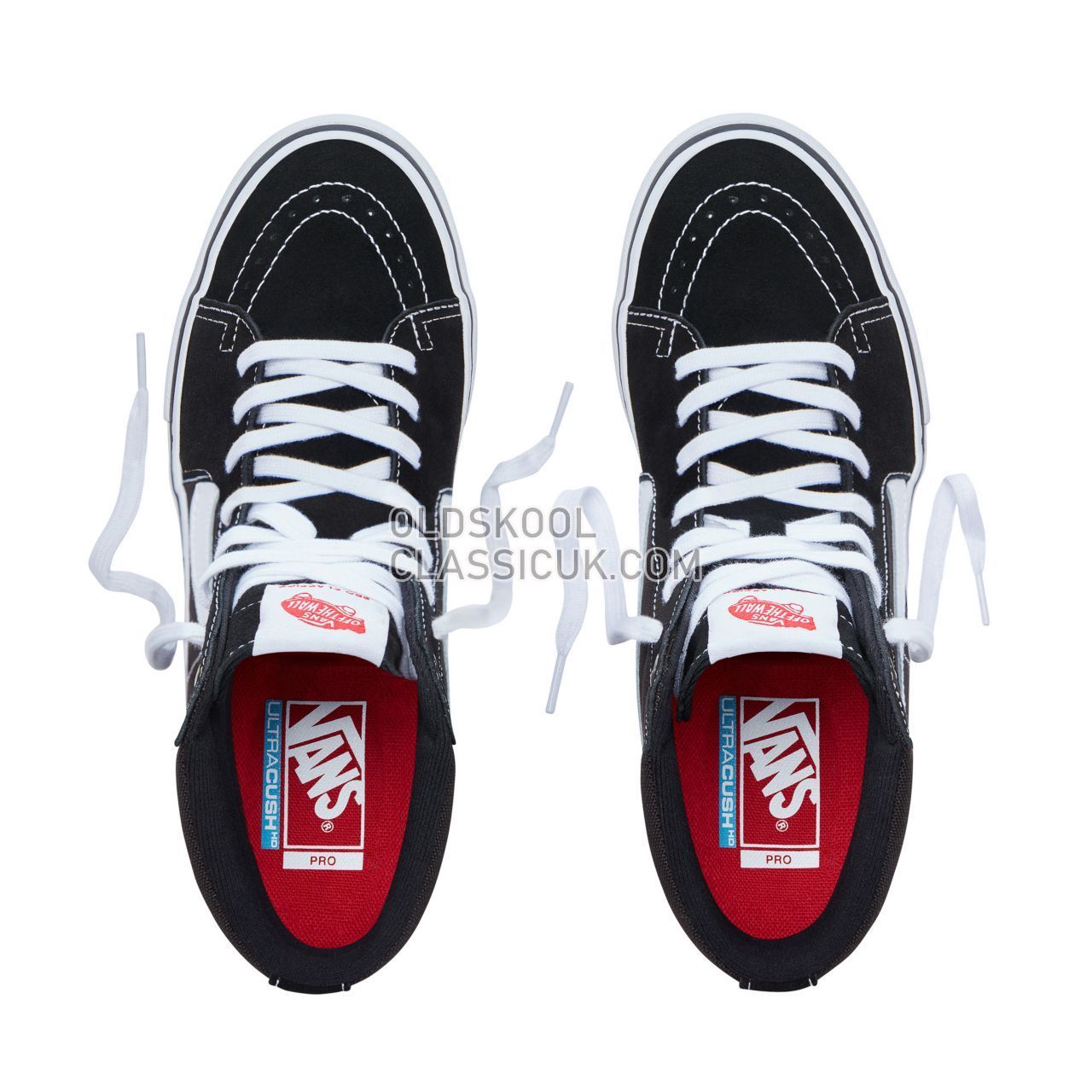 Vans Sk8-Hi Pro Sneakers Mens Black/White VN000VHGY28 Shoes
