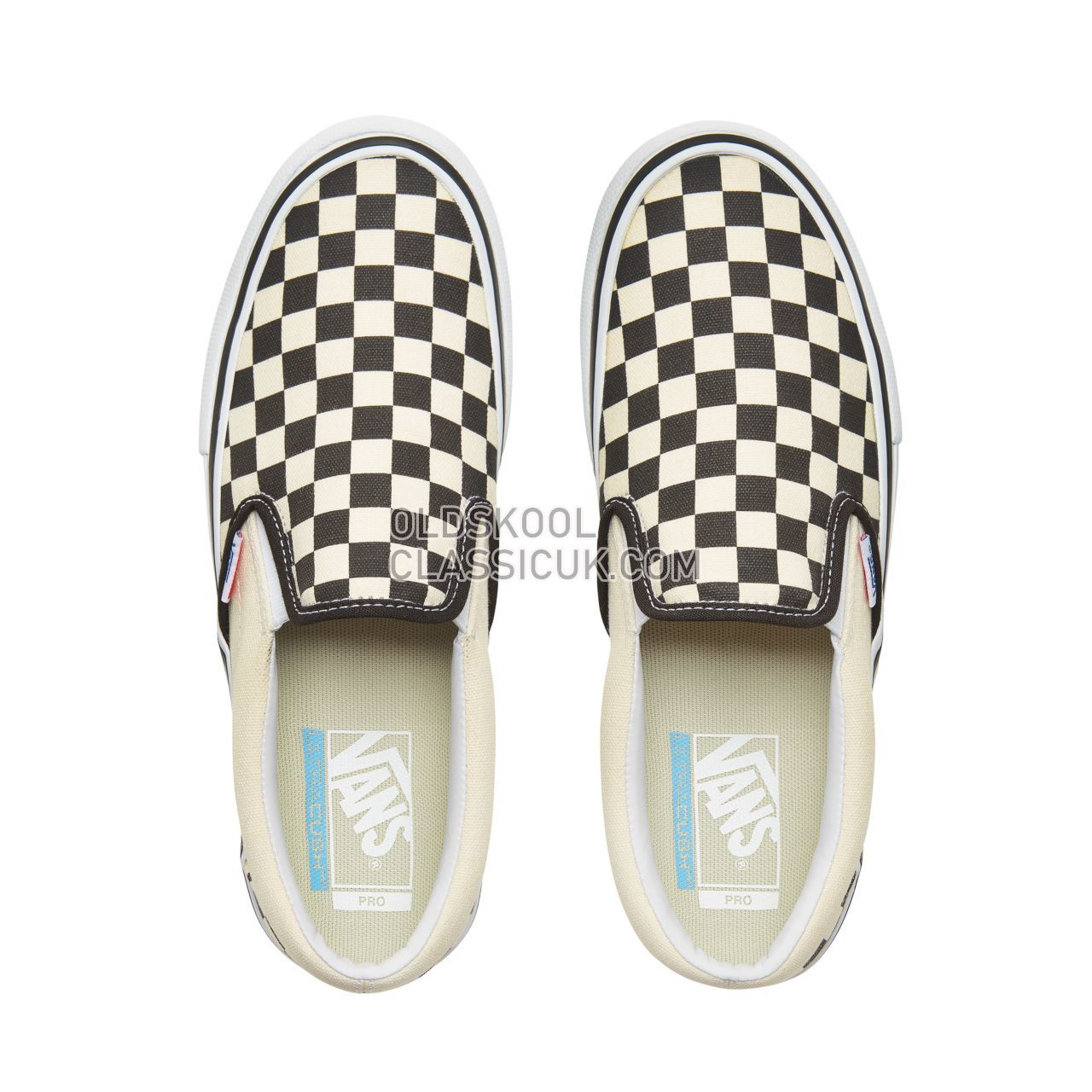 Vans Checkerboard  Slip-On Pro Sneakers Mens Black-White VN0A347VAPK Shoes