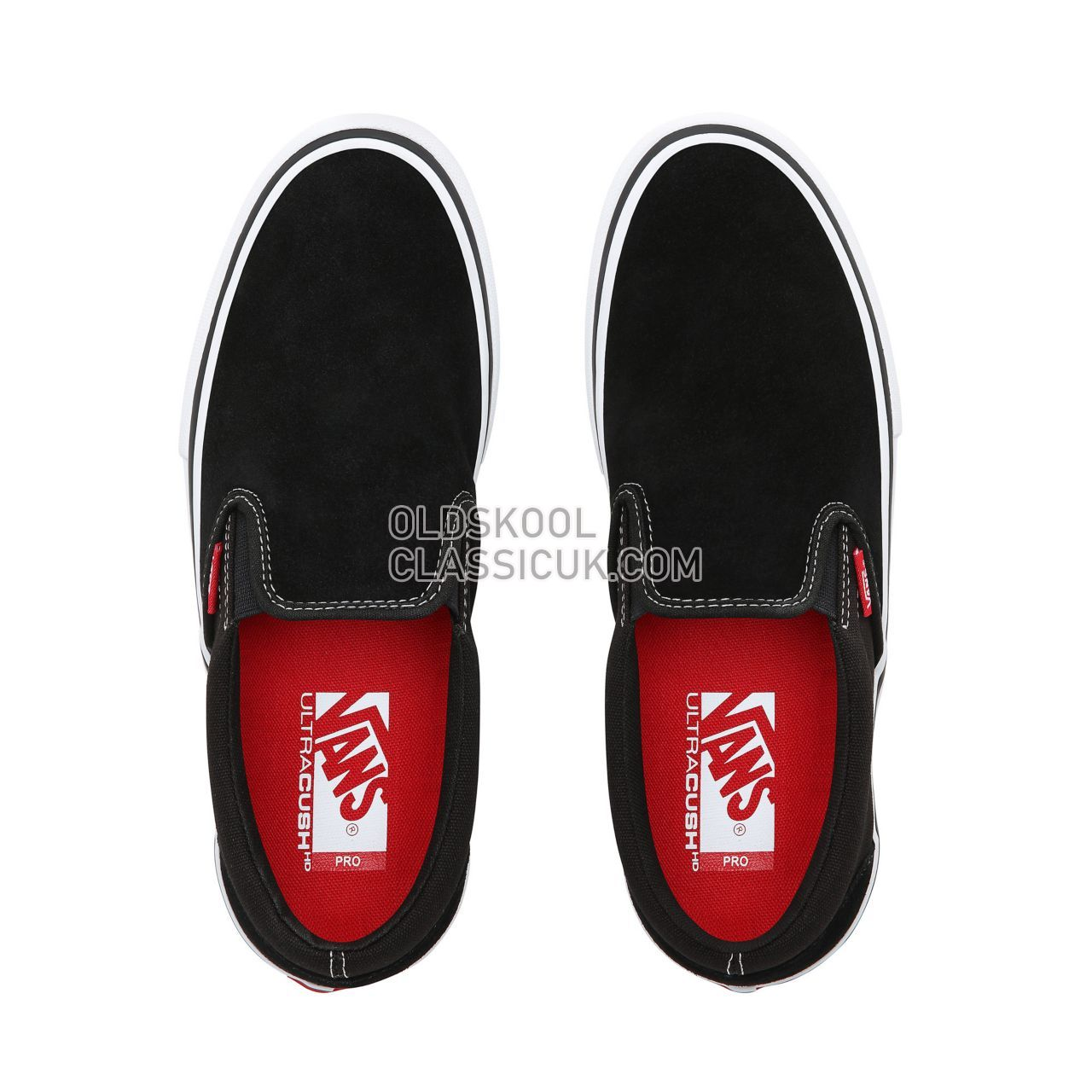 Vans Slip-On Pro Sneakers Mens Black/White/Gum VN00097M9X1 Shoes