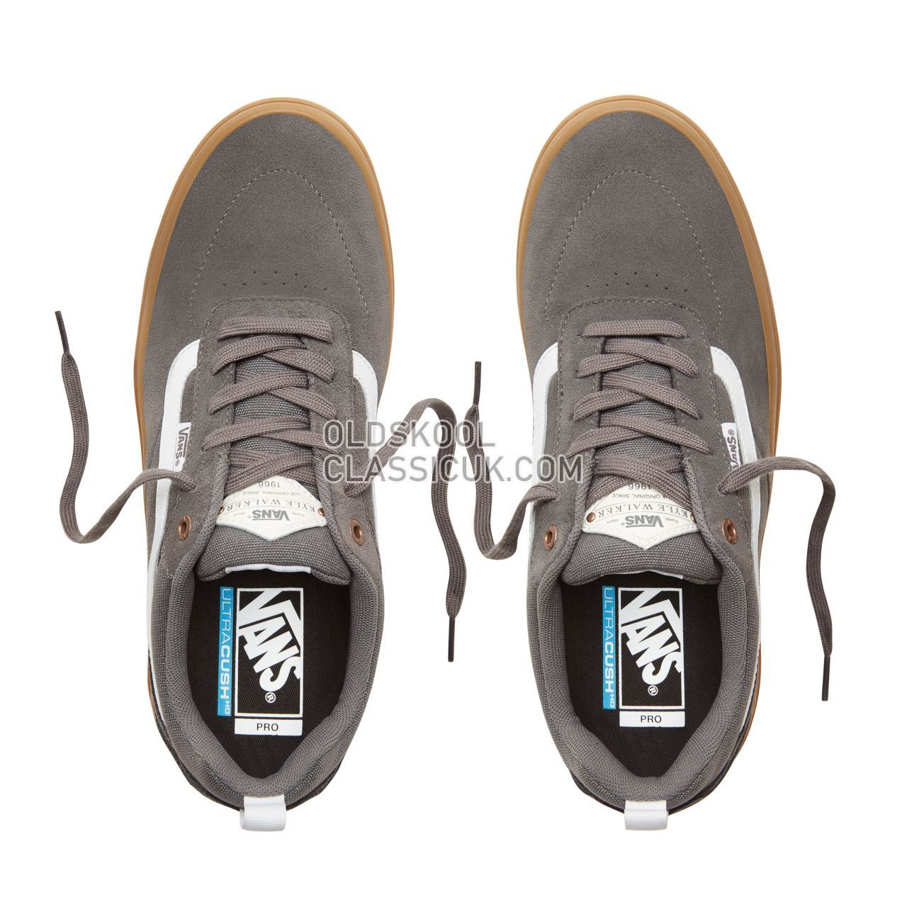 41faca55a1 Vans Kyle Walker Pro Sneakers Mens Pewter Light Gum VA2XSGKT9 Shoes - £54