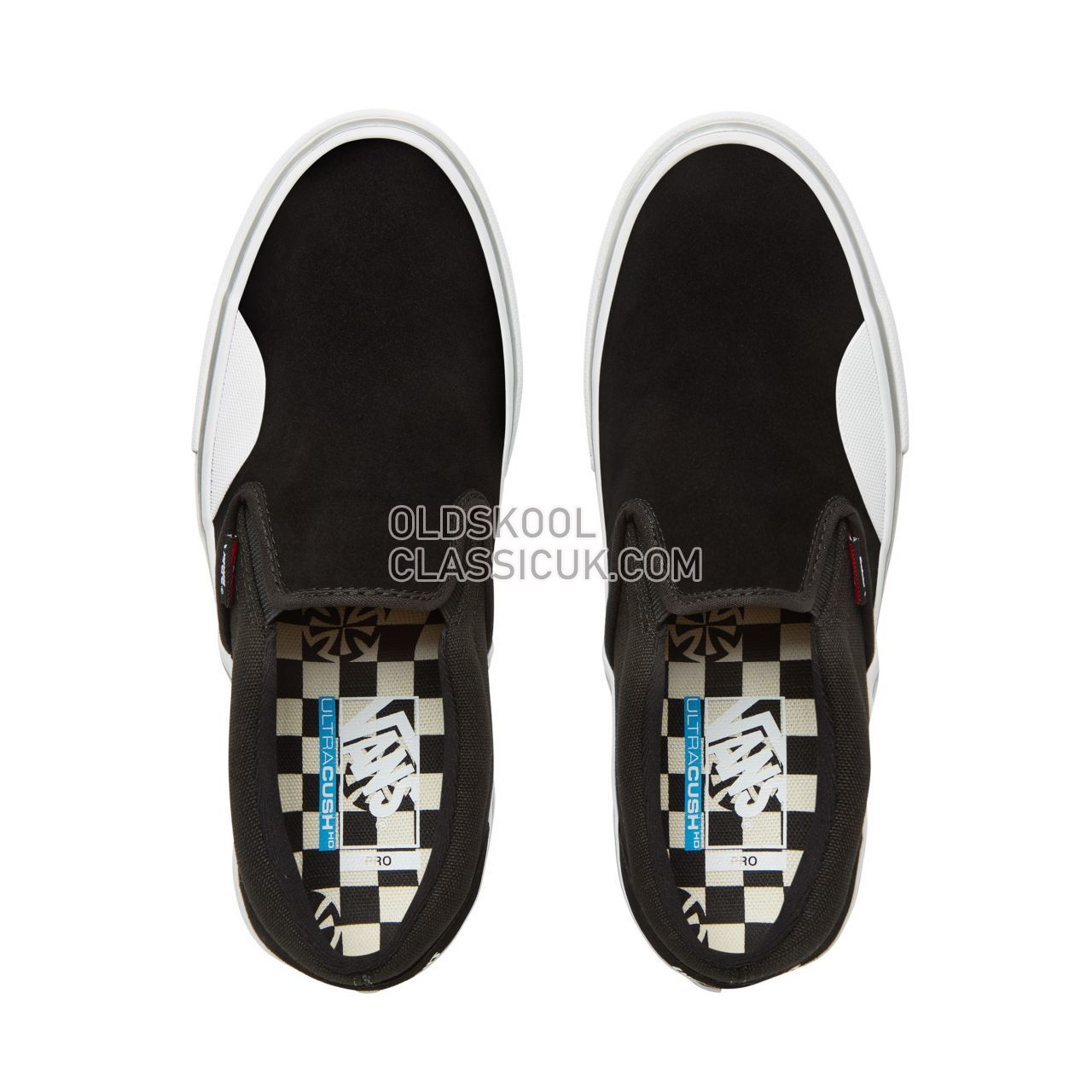 Vans X Independent Slip-On Pro Sneakers Mens (Independent) Black/White V0097MU2B Shoes