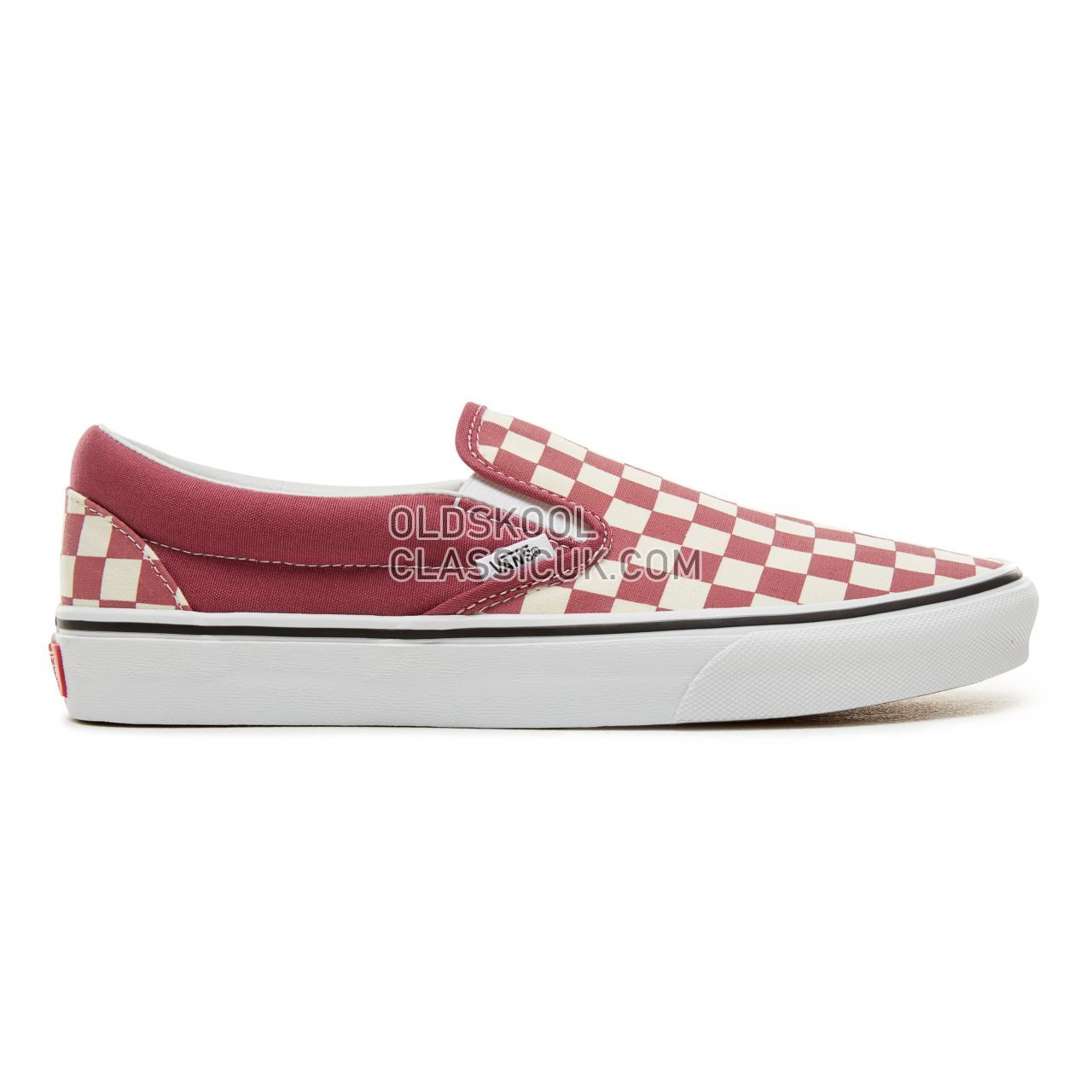 Vans Color Theory Checkerboard Classic Slip-On Sneakers (Unisex) Mens (Checkerboard) Dry Rose/White VA38F7U7A Shoes