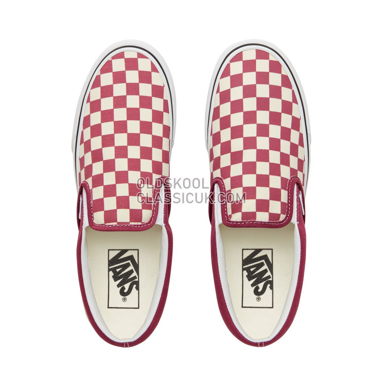 9361703eeeb Vans Color Theory Checkerboard Classic Slip-On Sneakers (Unisex) Mens ( Checkerboard) Dry Rose White VA38F7U7A Shoes - £54