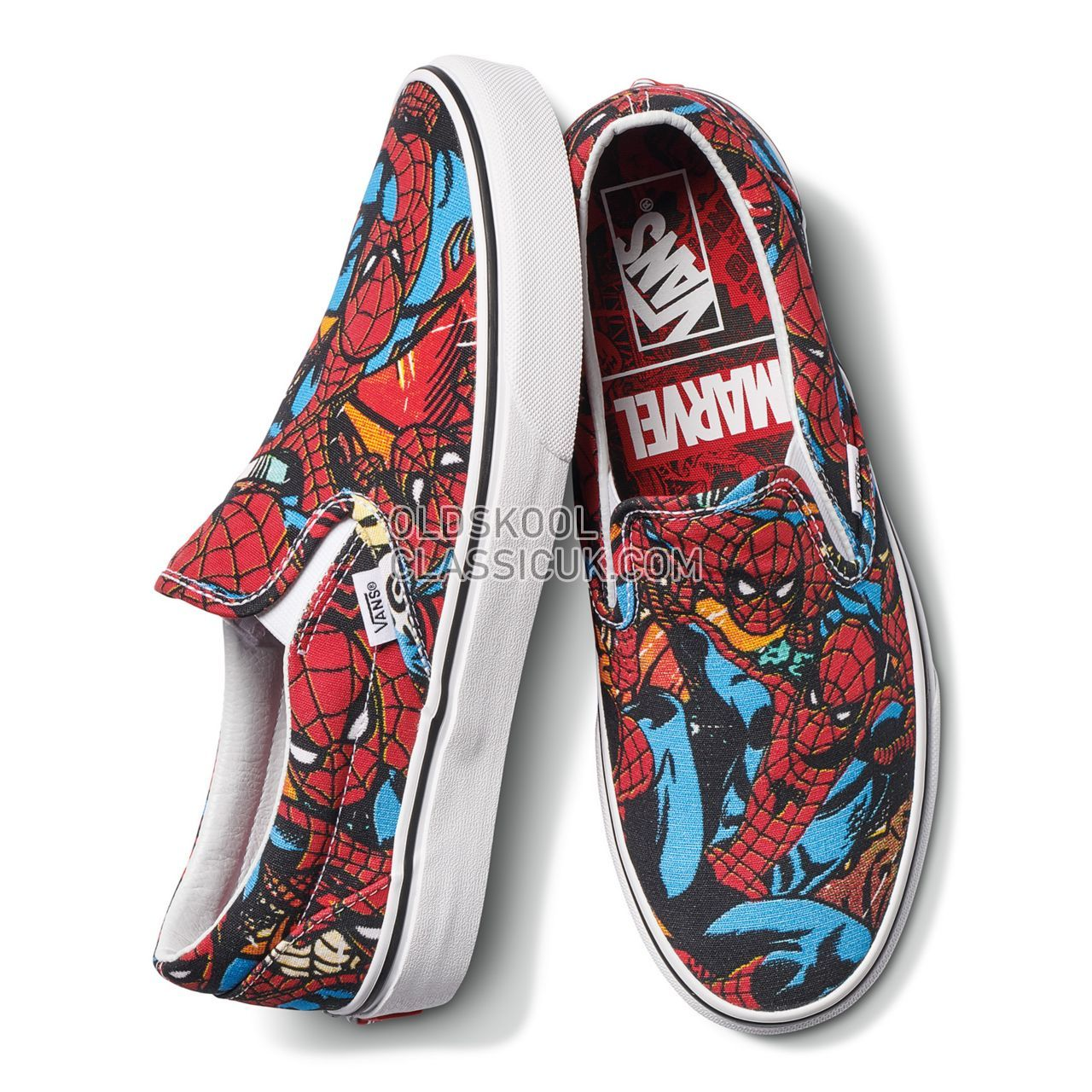 Vans X Marvel Classic Slip On Sneakers Mens (Marvel) Spider ManBlack VA38F79H7 Shoes ��54