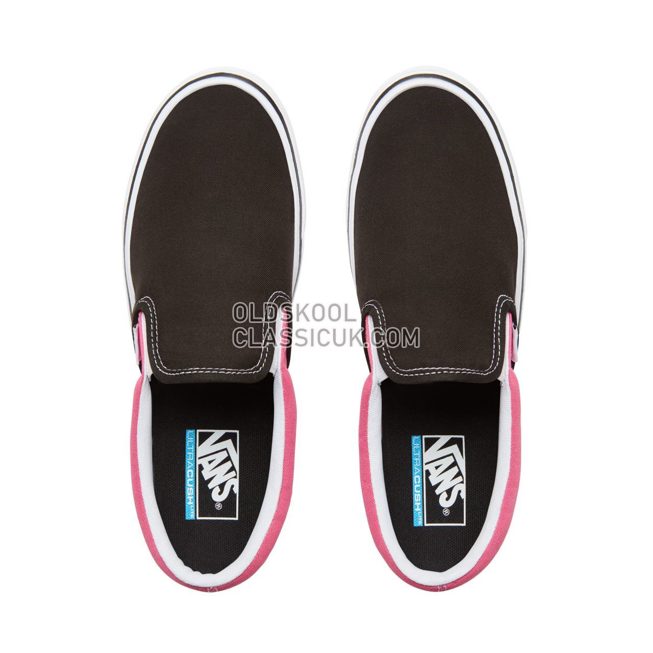 Vans 2-Tone Slip-On Lite Sneakers Mens (2Tone) Black/Magenta VA2Z63UB0 Shoes