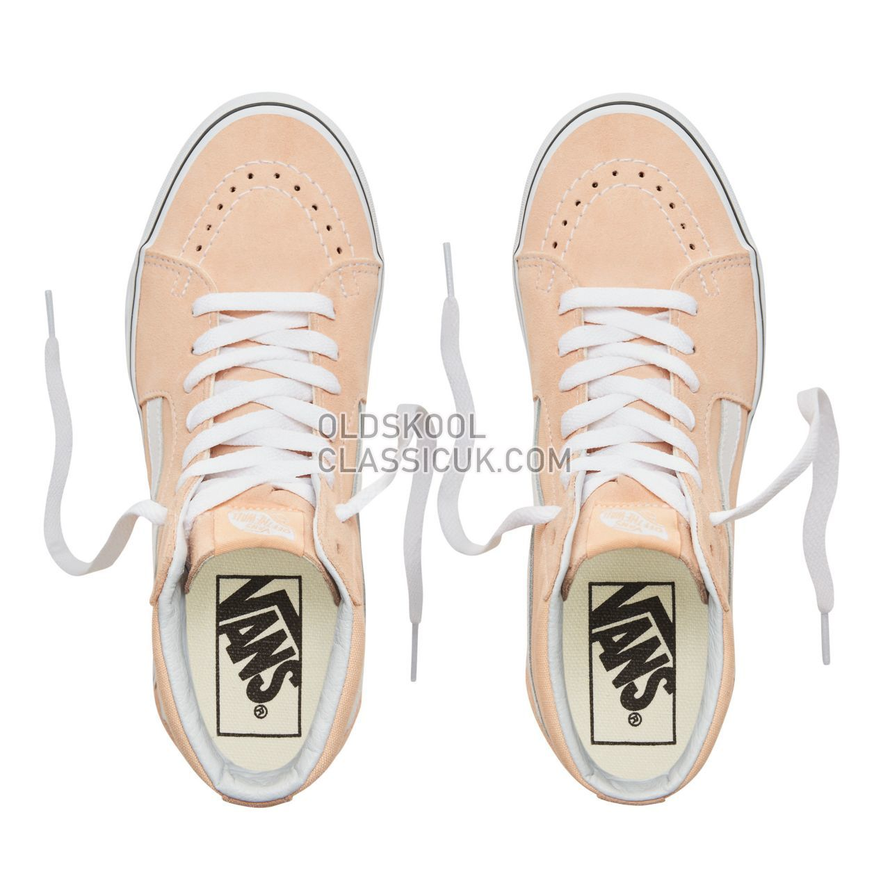 Vans Color Theory Sk8-Hi Sneakers (Unisex) Mens Bleached Apricot/True White VA38GEU5Y Shoes