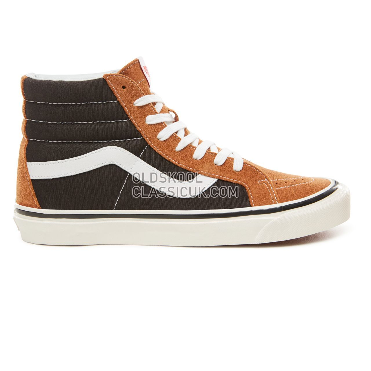 Vans Anaheim Factory Sk8-Hi 38 Dx Sneakers Mens (Anaheim Factory) Og Hart Brown/Og Black VN0A38GFUQ2 Shoes