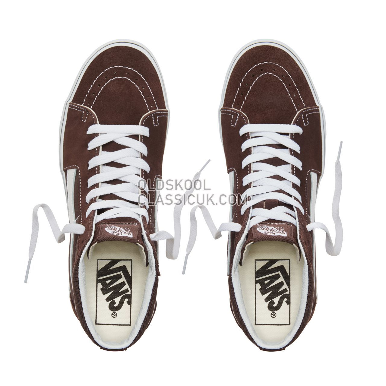 Vans Color Theory Sk8-Hi Sneakers (Unisex) Mens Chocolate Torte/True White VA38GEU5Z Shoes