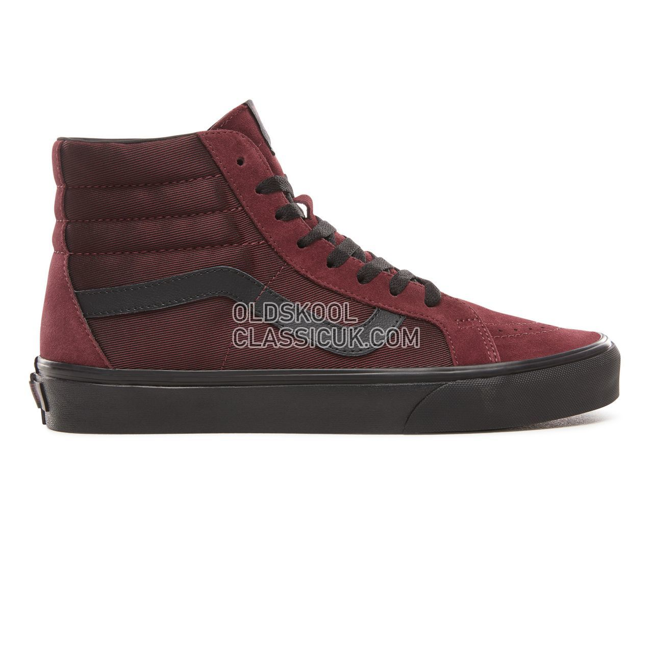 Vans Metallic Twill Sk8-Hi Reissue Sneakers Mens (Metallic Twill) Port Royale/Black VN0A2XSBUQN Shoes