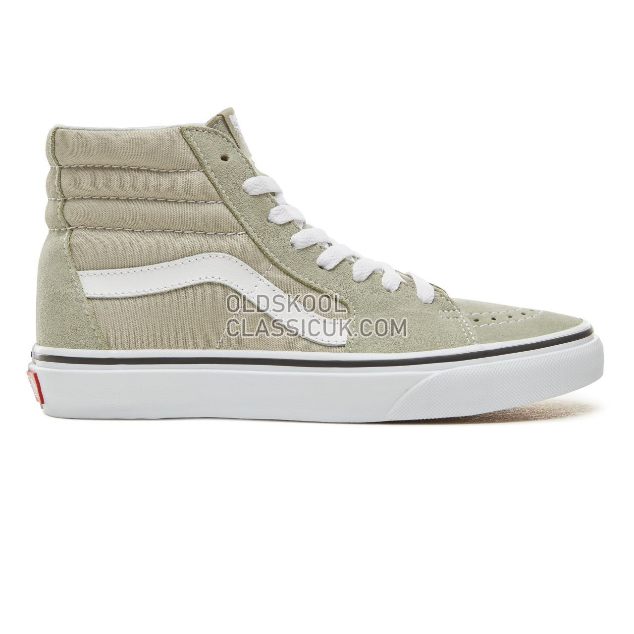 Vans Color Theory Sk8-Hi Sneakers (Unisex) Mens Desert Sage/True White VA38GEU62 Shoes
