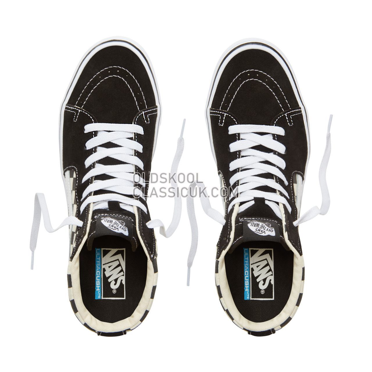 Vans Checkerboard Sk8-Hi Lite Sneakers Mens Black-White VA2Z5Y5GX Shoes