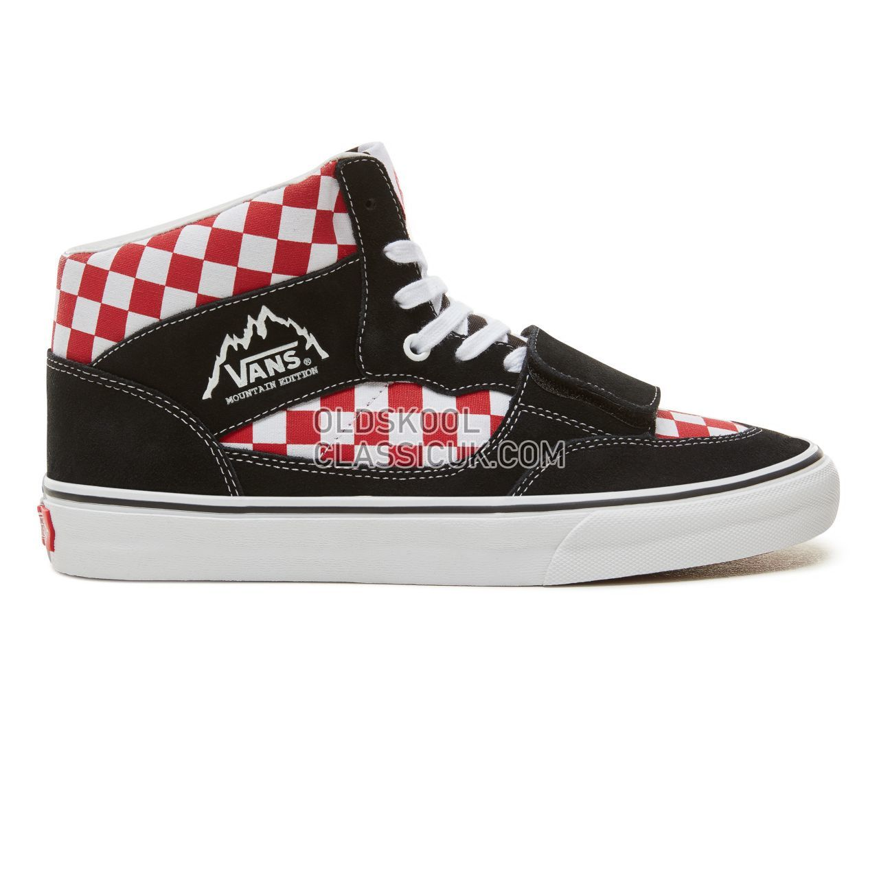 3e09b982ee Vans Suede Checkerboard Mountain Edition Sneakers Mens (Checkerboard)  Black Red VA3TKG35U Shoes ...