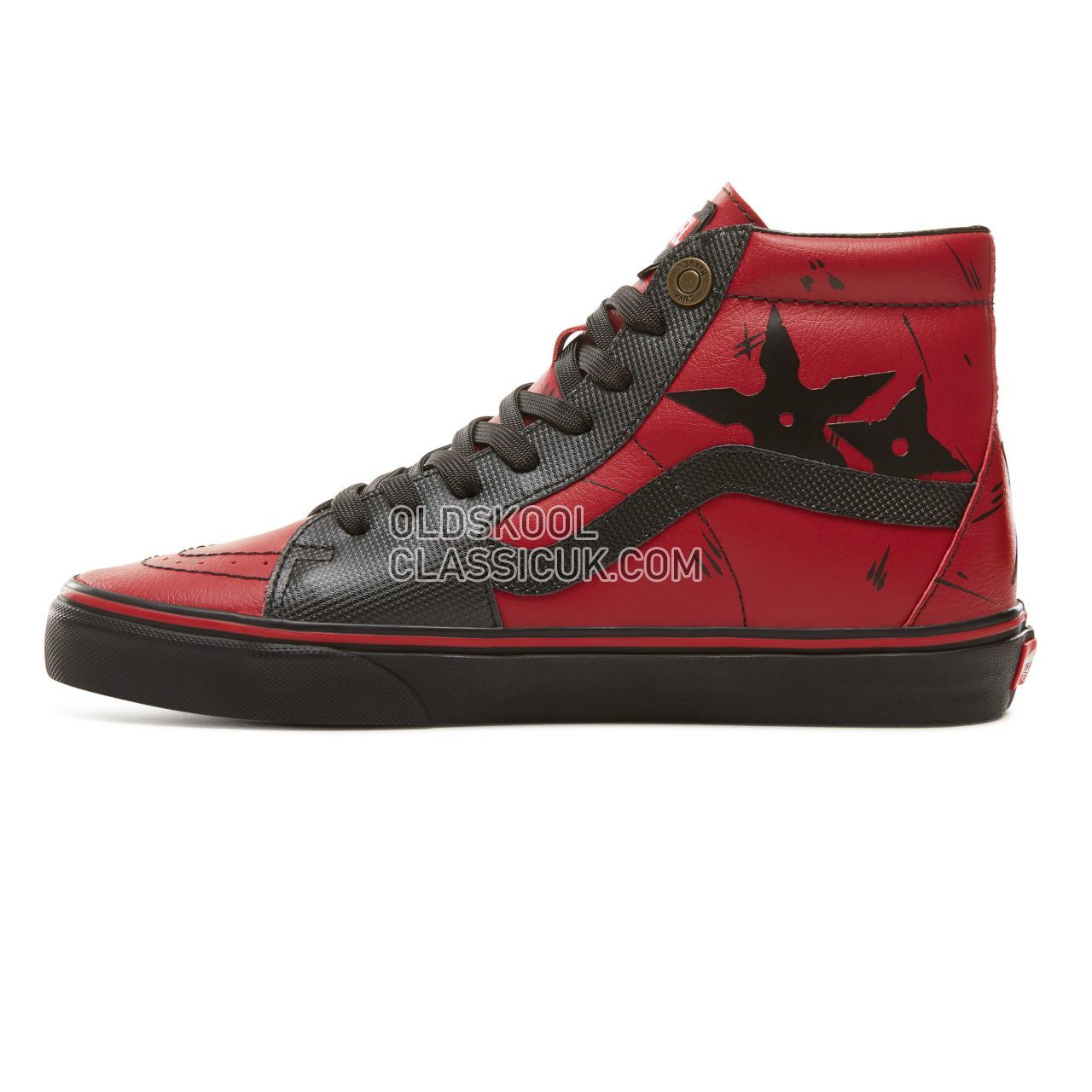 Vans X Marvel SK8-Hi Sneakers Mens (Marvel) Deadpool/Black VA38GEUBJ Shoes  - £53