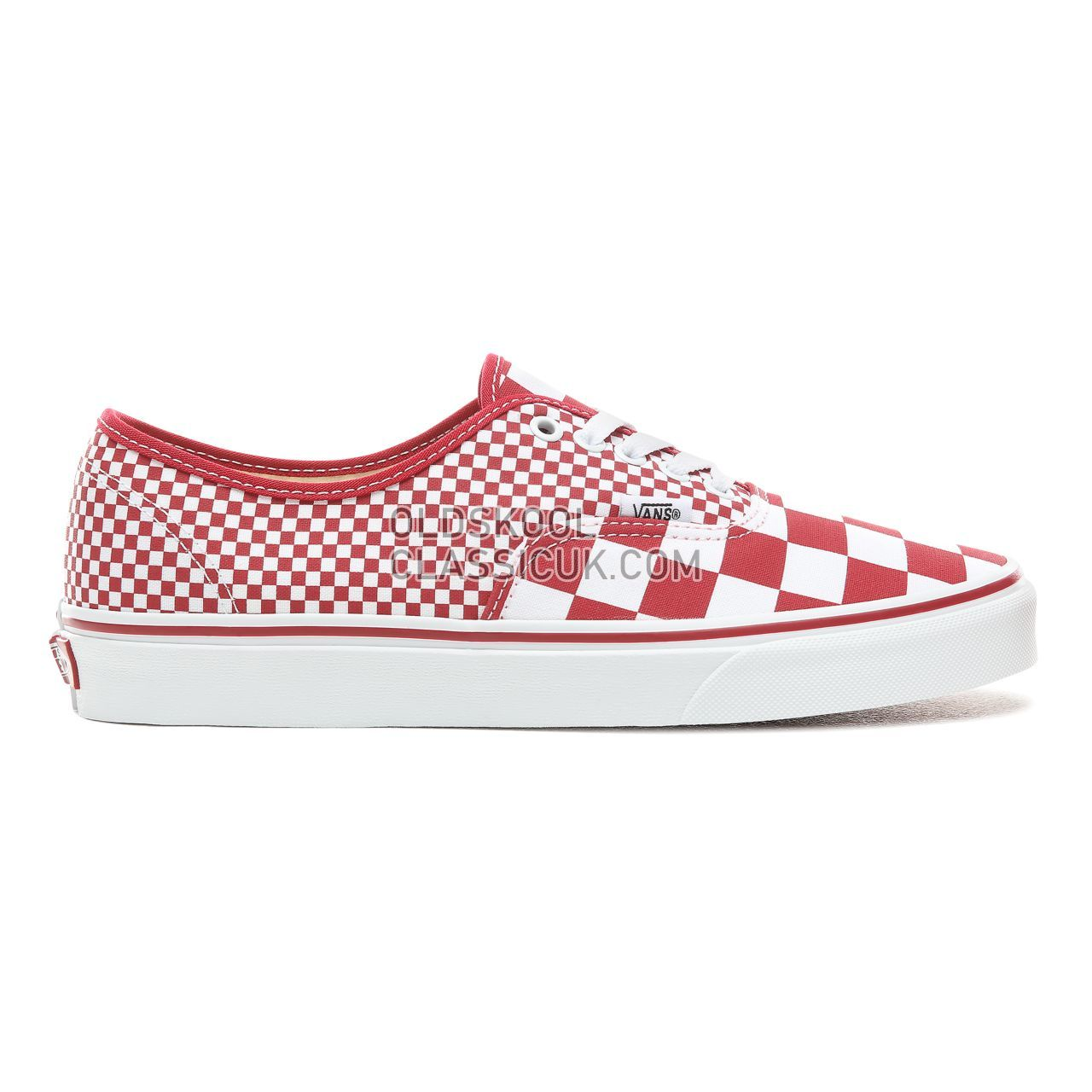 Vans Mix Checker Authentic Sneakers Mens (Mix Checker) Chili Pepper/True White VN0A38EMVK5 Shoes