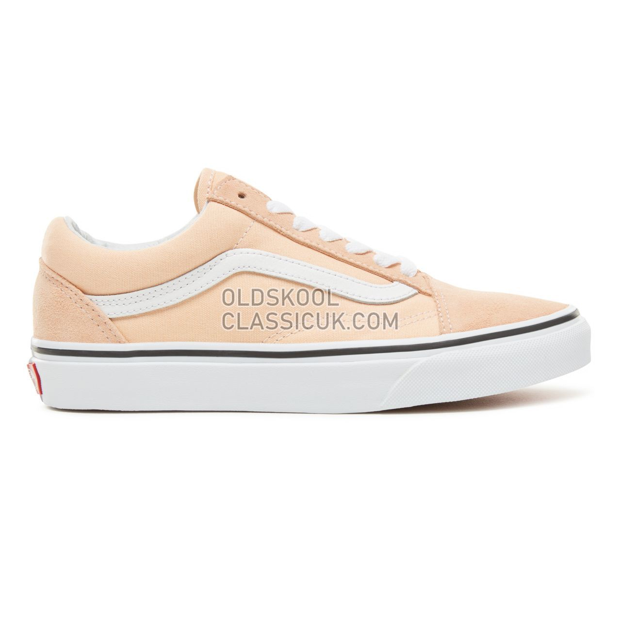 Vans Color Theory Old Skool Sneakers (Unisex) Mens Womens Unisex Bleached Apricot/True White VA38G1U5Y Shoes