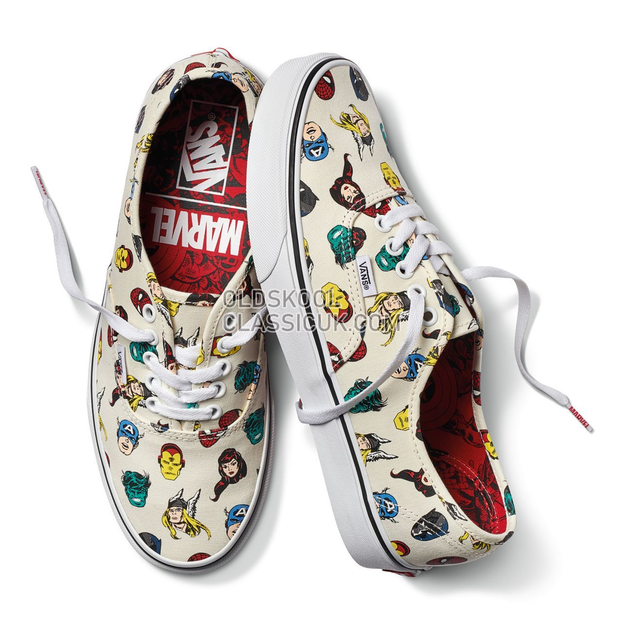 Vans X Marvel Authentic Sneakers Mens (Marvel) Marvel Heads /Multi VA38EMRNU Shoes
