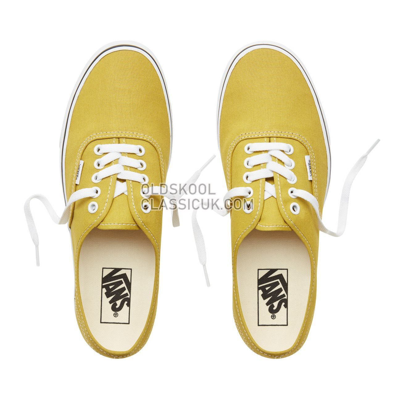 Vans Color Theory Authentic Sneakers (Unisex) Mens Cress Green/True White VA38EMU61 Shoes