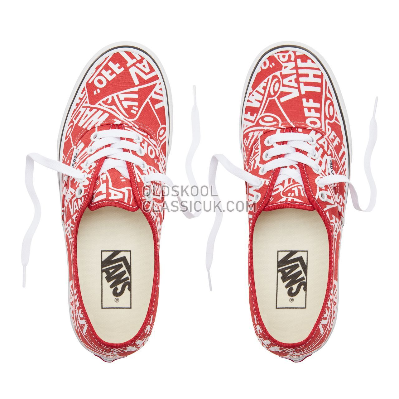 Vans Otw Repeat Authentic Sneakers Mens (Otw Repeat) Red/True White VN0A38EMUKL Shoes
